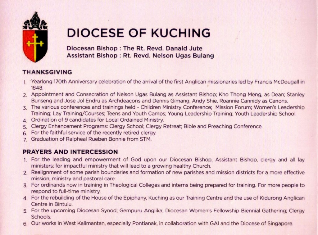 Msge from Diocese of Kuching