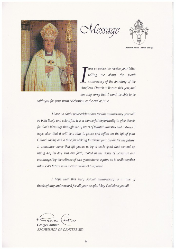 MSGE FR ARCHBISHOP OF CANTERBURY